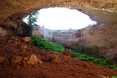 Gaping hole into the earth (' Ashraf Diab ') Tags: africa mountain green nature beautiful skyline circle big nikon hole sink natural earth deep ground libya gaping d60 cyrenaica