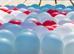 Soft landing place. (Omygodtom) Tags: party abstract detail art strange balloons outdoors dof perspective kitlens diamond odd round weired d7100 18105lens
