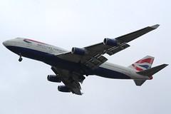 British Airways (So Cal Metro) Tags: plane airplane airport san sandiego aircraft aviation jet airline british boeing britishairways 747 jumbojet airliner jumbo 747400 lindberghfield 744 gcivb