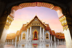 Wat Benchamabopitr (Patrick Foto ;)) Tags: old city travel vacation sky white building art history tourism beautiful architecture asian thailand religious temple gold ancient worship asia exterior bangkok buddha buddhist famous religion pray culture buddhism grand landmark palace tourist historic thai destination historical marble spirituality wat majestic siam th cultural krungthepmahanakhon benchamabophit benjamabopit
