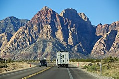 Going to Red Rock Canyon, NV (faungg's photos) Tags: travel usa mountains nature landscape us roadtrip nv  ontheroad   redcanyoncanyonnationalconservationarea