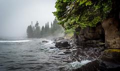 Cascade Falls State Park || Summer 2014 (manaelm1) Tags: minnesota rocks waves shoreline greatlakes shore northshore lakesuperior