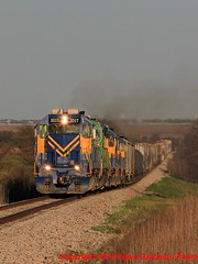 Charging upgrade (BNSFDS) Tags: railroad dublin turn mixed texas fort western worth freight subdivision cresson emd sd402