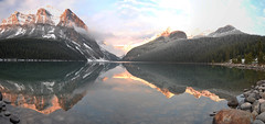 Lake Louise_Canada_DSC_2540_stitch_2_D (renrut01) Tags: sunset panorama canada reflection lakelouise