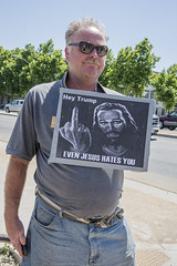 JESUS HATES YOU (akahawkeyefan) Tags: sign fresno trump protester davemeyer