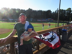 father and son at the ballpark (carolyn_in_oregon) Tags: portland oregon al allie jacob