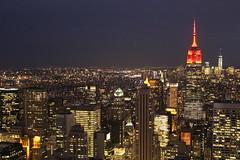 Manhattan all lit up at night (Hazboy) Tags: new york city nyc usa ny apple rock skyline america square us big state manhattan may center midtown empire times rockefeller 2016 hazboy hazboy1
