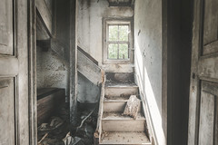 Why am I at your door? (RuiFAFerreira) Tags: wood old light urban abandoned window stairs canon mood doors decay interior wide urbanexploration aged exploration hdr oblivion urbex