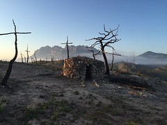 Sin palabras :( (:) vicky) Tags: barcelona tristeza hiking monte cruces incendio monserrat bombero caseta quema vickyepla