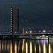 Die Rheinkniebrücke in Düsseldorf