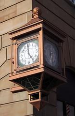 Berea 06-28-2016 - Huntington Bank Clock (David441491) Tags: clock outdoor oh berea