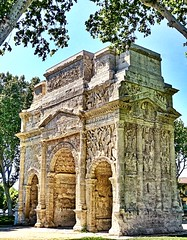 Ancient Rome. Roman Triumphal Arch in Arausio, nowadays Orange, France (mike catalonian) Tags: orange france arch marble ancientrome arausio