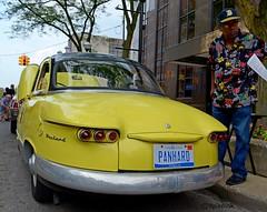 1961 Panhard PL17 (FrogLuv) Tags: yellow a2 aa panhard annarbormichigan rollingsculpturecarshow