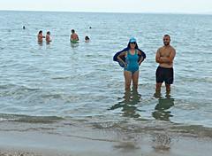Catherine & Deniz, Sarafovo (ali eminov) Tags: people beach sand bulgaria catherine umbrellas burgas blacksea deniz seas bathers sarafovo