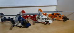 Eurocopter Dauphin Collection (LonnieCadet) Tags: blue red orange usa white 3 america dark coast us lego bricks guard australian police australia victoria ambulance collection helicopter emergency dauphin heli eurocopter rotor moc uscg 2016 custome