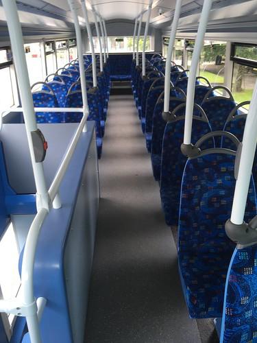 Plymouth Citybus SN64 CTU upper deck interior