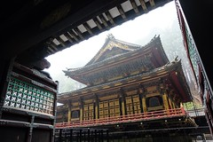 Rinnoji Taiyuin V (Douguerreotype) Tags: door red rain japan architecture buildings temple gold gate shrine buddhist nikko