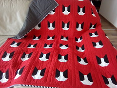 Red-dog-quilt_000002 (irina_vykhrestiuk) Tags: modern quilt handmade homemade twin kid child patchwork bedding bed quilting memory throw