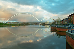 Infinity Bridge (Paolo Serafino) Tags: bridge water reflections river tees