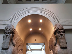Colossal Assyrian Statue 1 (The Popular Consciousness) Tags: uk greatbritain england london unitedkingdom surveillance iraq cctv historic relief securitycamera britishmuseum artifact colossal relic assyria nimrud 800bc colossalassyrianstatue