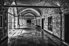 Arches (Sean X. Liu) Tags: hallway arches contrast pattern architecture leadinglines perspective blackandwhite blackwhite monochrome turkey istanbul