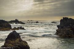 Pescador (MoissGPics) Tags: longexposure sea water landscape atardecer mar fisherman agua nubes seda pescador haida largaexposicin haidand100030