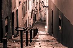 Rua Da Rosa - Lisboa (Bouhsina Photography) Tags: portugal sepia canon lisboa perspective rue et lisbonne escaliers marches sters ef70200 stre bouhsina 5diii bouhsinaphotography