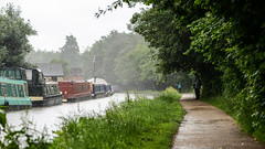"This was ""before"" the rain, apparently... (PChamaeleoMH) Tags: people rain oxford jericho canalboat oxfordcanal"