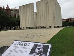 "JFK Memorial Plaza in Dallas • <a style=""font-size:0.8em;"" href=""http://www.flickr.com/photos/109120354@N07/27821961306/"" target=""_blank"">View on Flickr</a>"