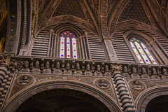 Siena - Cathedral Busts of 172 Popes Above Both Sides of Nave 3 (Le Monde1) Tags: city horses italy nikon cathedral unesco worldheritagesite nave rivers tuscany siena stmary elsa palio 172 popes busts pilgrims piazzadelduomo d610 arbia santamariaassunta merse viafrancigena lemonde1