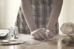 Amasando (Ali Llop) Tags: food woman home girl work bread hands natural good dough pizza kneading flour kead