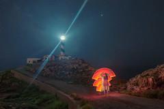 The color of the night (Masterdreams) Tags: lighthouse night painting stars faro noche model long expo dream estrellas mallorca sueo calafiguera exposurelong hunter20 seconds70dlight