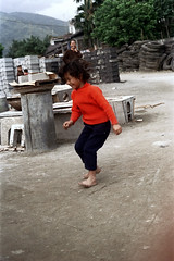 32-183 (ndpa / s. lundeen, archivist) Tags: winter people woman color fall film girl rural 35mm village child nick taiwan tires barefoot local 1970s 1972 hualien 32 taiwanese eastcoast unidentified dewolf rurallife republicofchina easterncoast easterntaiwan nickdewolf photographbynickdewolf hualiencounty reel32