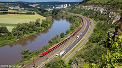 185 200 on GA 52869 to Ingolstadt Nord on the River Main (37001 overseas) Tags: karlstadt karlstadtammain himmelstadt main maintal db dbschenker ga 52869 52867 ingolstadt seelze 185200 1852003 laaeks class185