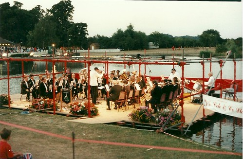 Guest Conductor : Nigel Simmonds takes the band at Swanley Park in the 1990s
