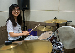 North korean teen defector in yeo-mung alternative school playing drums, National capital area, Seoul, South korea (Eric Lafforgue) Tags: portrait music woman rock horizontal closeup youth fun drums sticks student energy asia play exercise refugee young indoors teen seoul teenager drummer perform activity jam southkorea youngadult adolescent loud enjoyment rockin oneperson defector 1819years lookingatcamera northkorean 1617years 1people nationalcapitalarea colourpicture koreanethnicity sk162365