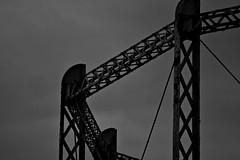 Bad Gas (Steve.T.) Tags: sky urban blackandwhite silhouette architecture mono nikon moody structure derelict essex lattice girder chelmsford gasholder wharfroad sigma18200 d7200