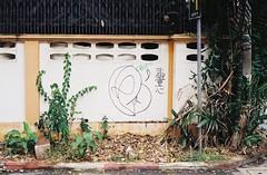 Thong Lo - Bangkok (35mm) (jcbkk1956) Tags: street tree film wall analog 35mm fence thailand graffiti bangkok manual carlzeiss kodacolor200 thonglo contaxrts 45mmf28