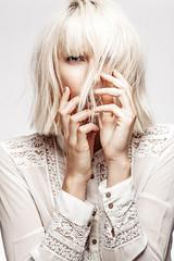 Skin On White IV (photgraphy.com) Tags: white girl beauty hair mood mysterious editorial whitehair skintones whitehairdontcare