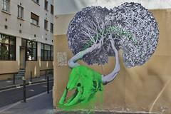 Ludo_7277 passage Saint Sbastien Paris 11 (meuh1246) Tags: streetart paris fleur animaux ludo crne paris11 passagesaintsbastien