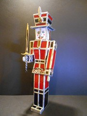 Nutcracker 3d - Stained Glass (lizbiejack) Tags: glass 3d traditional stained nutcracker