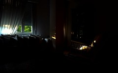 301/365 Indoor sunrise (darioseventy) Tags: morning windows light summer sun sunrise dark early alba indoor pillows sofa summertime sole divano luce interno mattina finestre scuro presto contrasto rockinchair cuscini sediadondolo