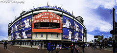 Wrigley Field (djqphotography) Tags: panorama chicago art field landscape baseball sox cubs wrigley hdr mlb notwhite