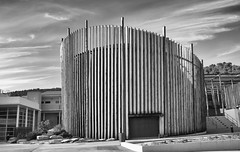 Wood college J7 (Josiane D.) Tags: wood house france building college pine provence blackandwithe
