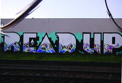 READ (2ONE5-1981 (S.O.B.A.)) Tags: oregon graffiti crossing northwest books read barbedwire rails bones graff westcoast razorwire booker railroadtracks greengrass americansteel