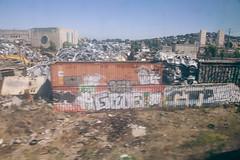 Junkyard Canvas (c_kreature) Tags: california ca public northerncalifornia graffiti caltrain publictransit publictransportation transit sanfranciscobayarea dslr sanmateocounty canon5dmkii francorodriguezdesoto