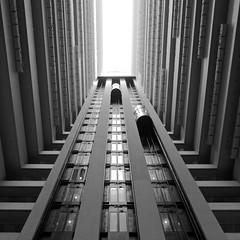 Hilton Brisbane Atrium (Brad Scruse) Tags: bw architecture fuji brisbane queensland fujifilm atrium x20 hiltonbrisbane fujifilmx20