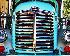 International Chrome (Jeff M Photography) Tags: old abandoned lines contrast truck vintage shine antique international 1940s chrome rig grille oldtruck kb conventional ih internationalharvester oldinternational