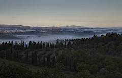 Misty Morning (Phil_Mercer) Tags: morning trees italy mist clouds landscape tuscany
