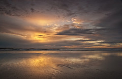 Drawing Crazy Patterns (Elidor.) Tags: morning sea sky sun sunrise reflections dawn coast sand waves northumberland northeast berwickupontweed spittal d40 silverrainbow